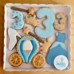 Galletas decoradas Barcelona. Caja regalo galletas