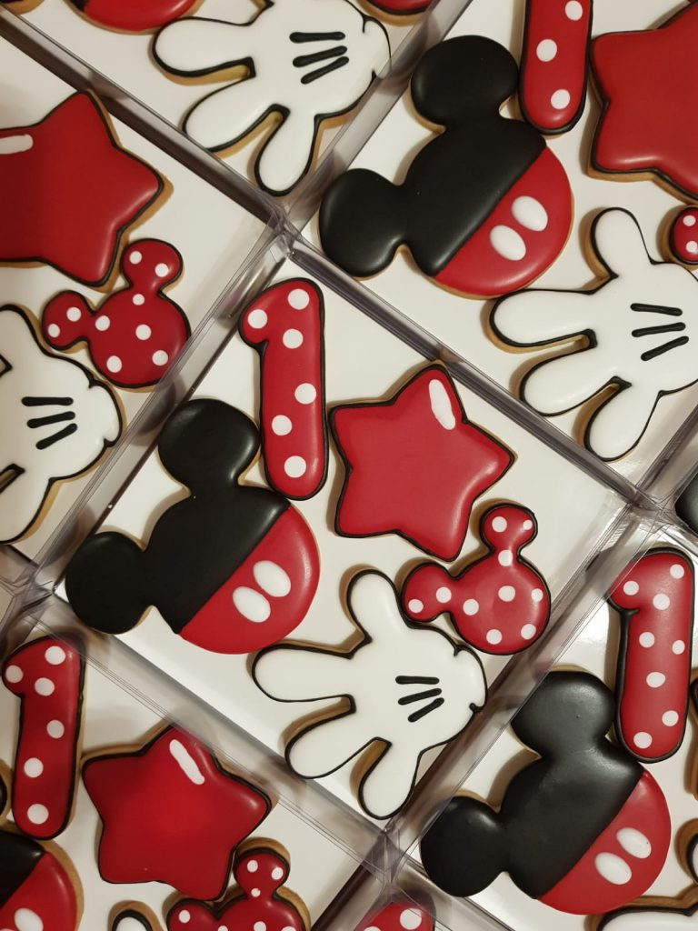 Caja Regalo Mickey Mouse. Galletas decoradas Barcelona