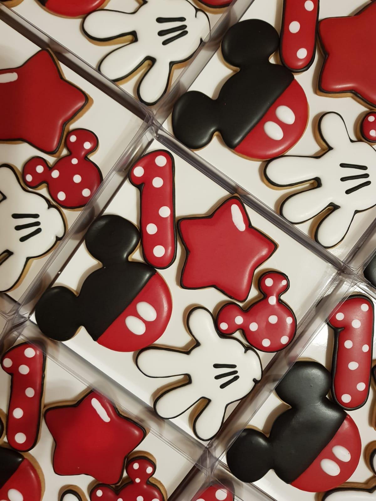 Caja Regalo Mickey Mouse. Galletas decoradas Barcelona